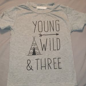 Young wild and three teepee shirt size 4/5